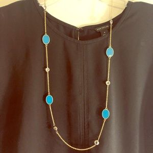 Gold and blue necklace from LOFT